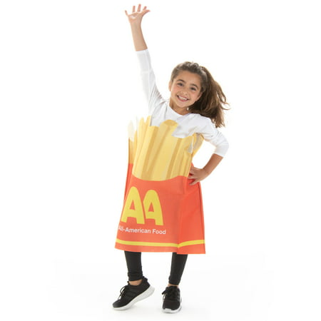 Bichon Frise Halloween Costumes (Hauntlook Fancy French Fries Halloween Children's Costume - Funny Kid Food)