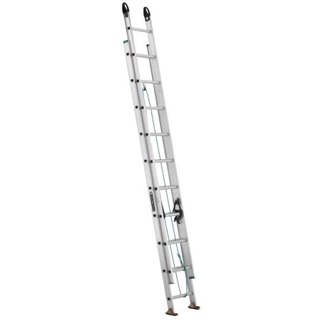 Louisville Ladder 20-Foot Aluminum Extension Ladder, 225-Pound Capacity, Type II, W-2222-20PG