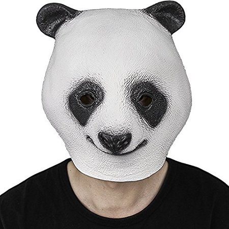 Halloween Costume Party Latex Animal Head Mask Giant - Panda Mascot Head For Sale