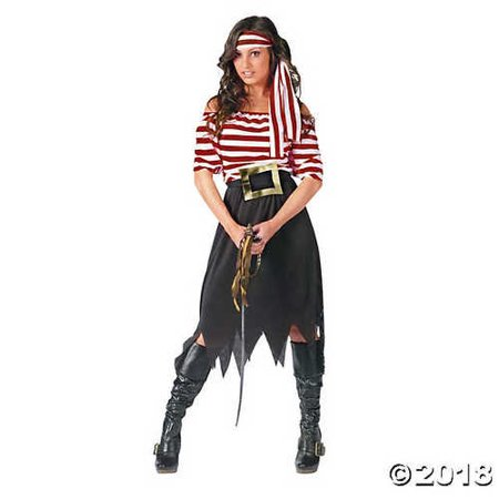 Pirate Maiden Costume - Women's Pirate Maiden Costume - Standard