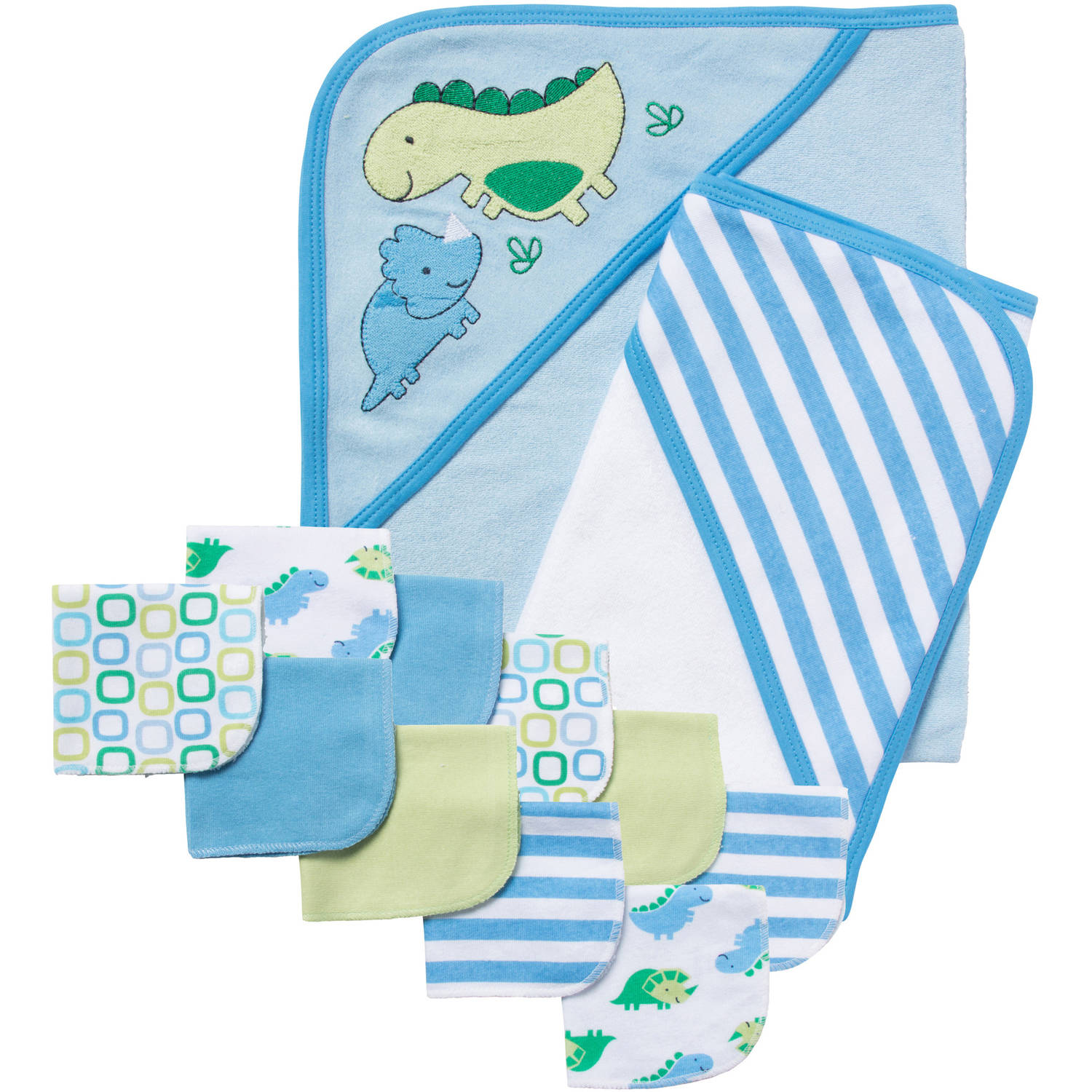 Gerber Newborn Baby Boy 12-Piece Bath Essentials Shower Gift Set