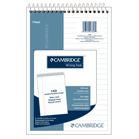 NOTEBOOK 6x9 WHT 140 (140 Page Book)