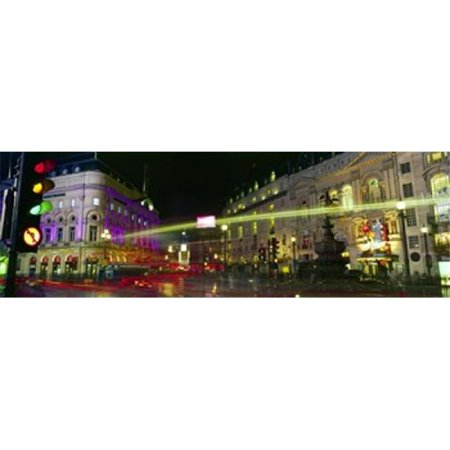 Panoramic Images PPI128087L Buildings lit up at night  Piccadilly Circus  London  England Poster Print by Panoramic Images - 36 x 12 - image 1 of 1