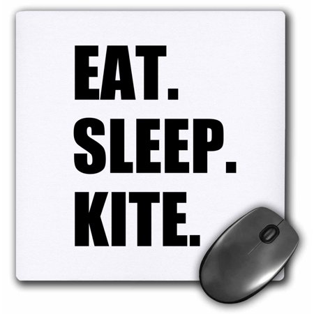 3dRose Eat Sleep Kite - Kitesurfing kiteboarding kitesurfer kiteboarder surf, Mouse Pad, 8 by 8 inches