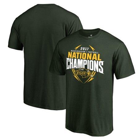 NDSU Bison Fanatics Branded 2017 NCAA FCS National Champions T-Shirt - Green 2005 Ncaa National Champions