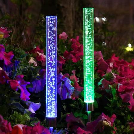 2X Solar Outdoor LED Plug Lawn Lamp Landscape Light Yard Garden Path  - image 5 de 9