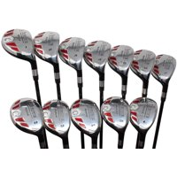 Senior Women's Golf Clubs All Ladies iDrive Hybrid Set Includes: #1, 2, 3, 4, 5, 6, 7, 8, 9, PW, SW, LW. Lady L Flex Right Handed Utility Clubs with Premium Ladies Arthritic Grip. 60+ Years Old