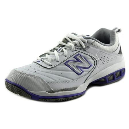 New Balance 806 Women D Round Toe Leather White Tennis Shoe ()