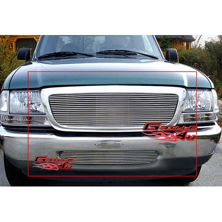 Compatible with 1998-2000 Ford Ranger Billet Grille Combo -