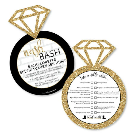 Nash Bash - Selfie Scavenger Hunt - Nashville Bachelorette Party Game - Set of 12