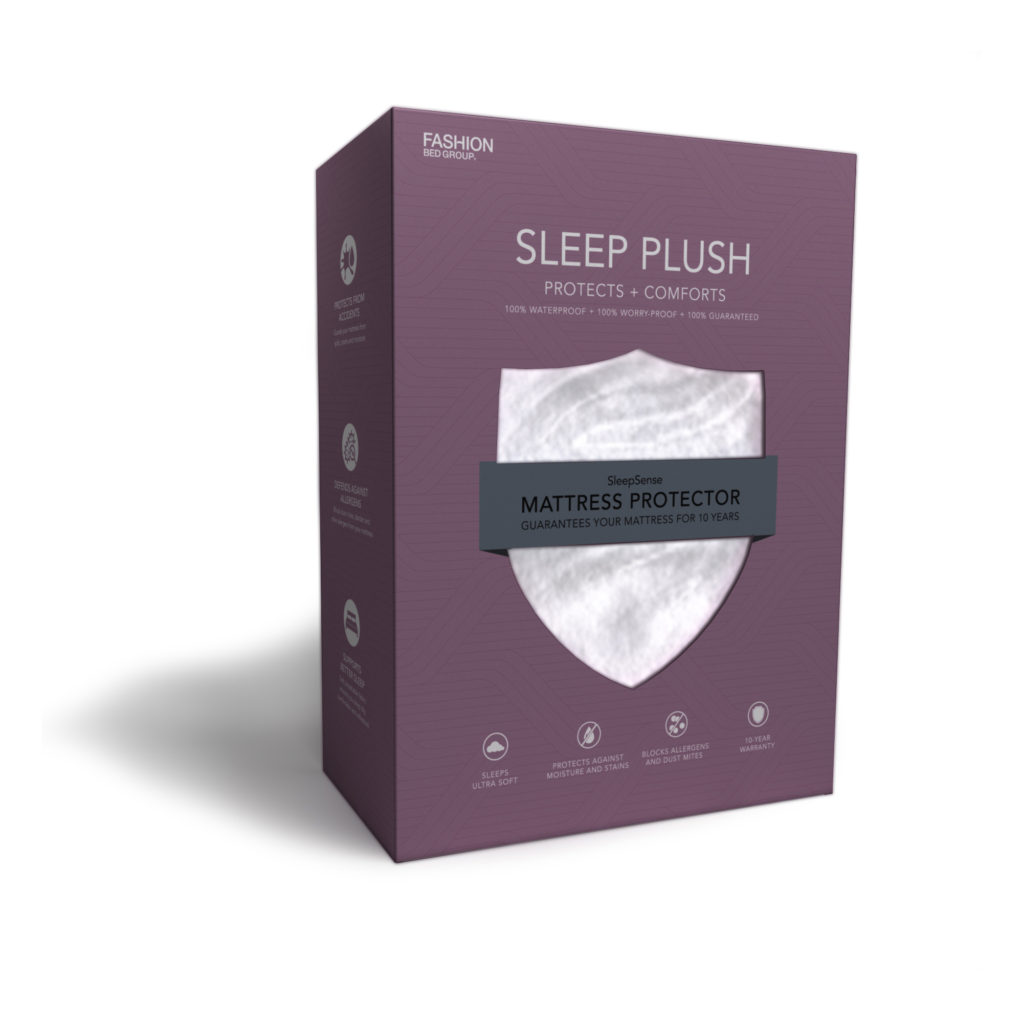 Sleep Plush Mattress Protector Bed SHeet with Ultra-Soft and Waterproof Fabric, Twin by Fashion Bed Group