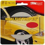 Trimbrite T0402 Pinstripe Tape 5/16 Inch Multistripe; Red; 36 Foot Length