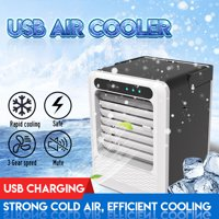 Mini USB Air Cooler Portable 3 Wind Gear Adjustable Air Conditioner Air Humidifier Purifier Desktop Air Cooling Fan for Office Home Room Gifts