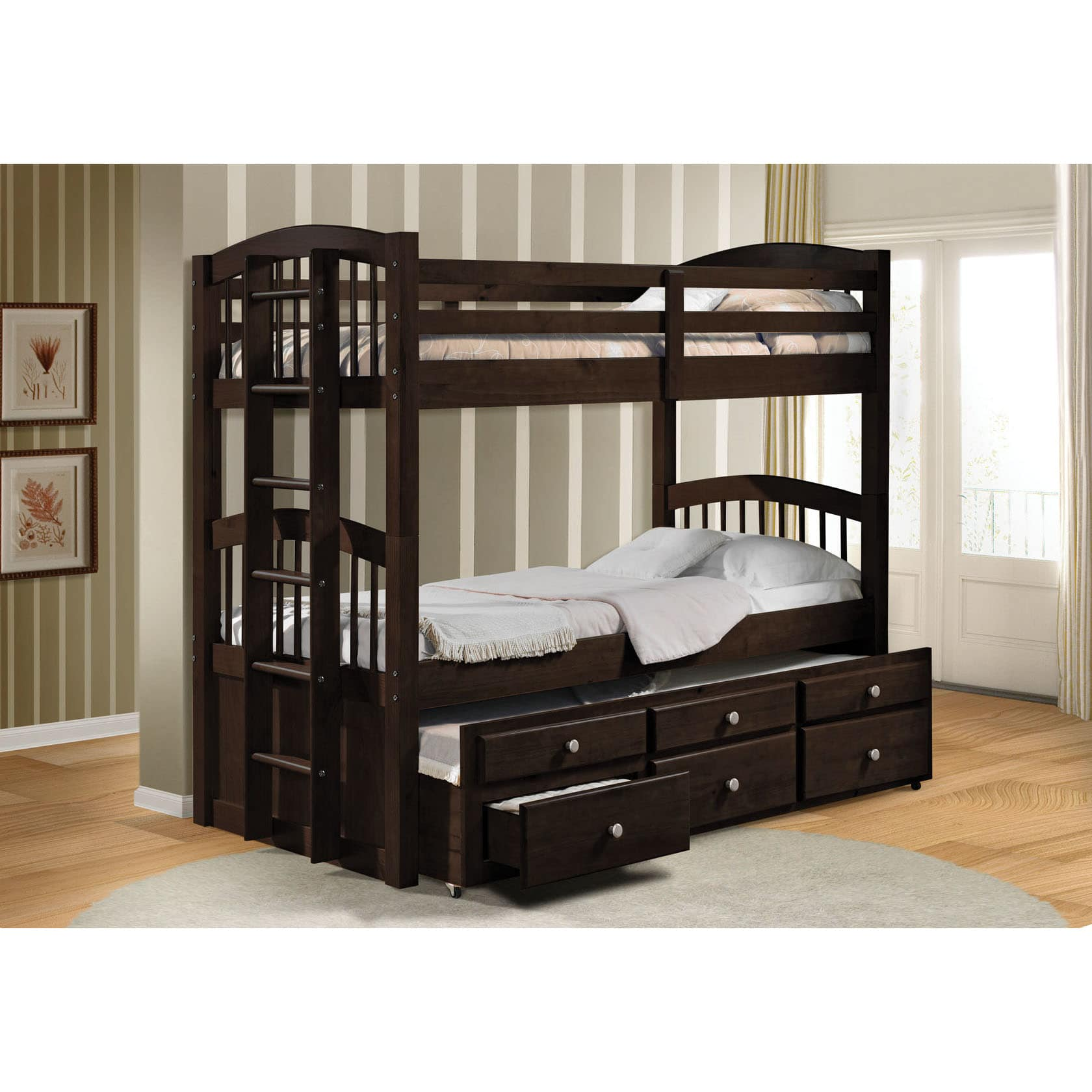 Acme Micah Espresso Twin Bunk Bed with Trundle by Overstock