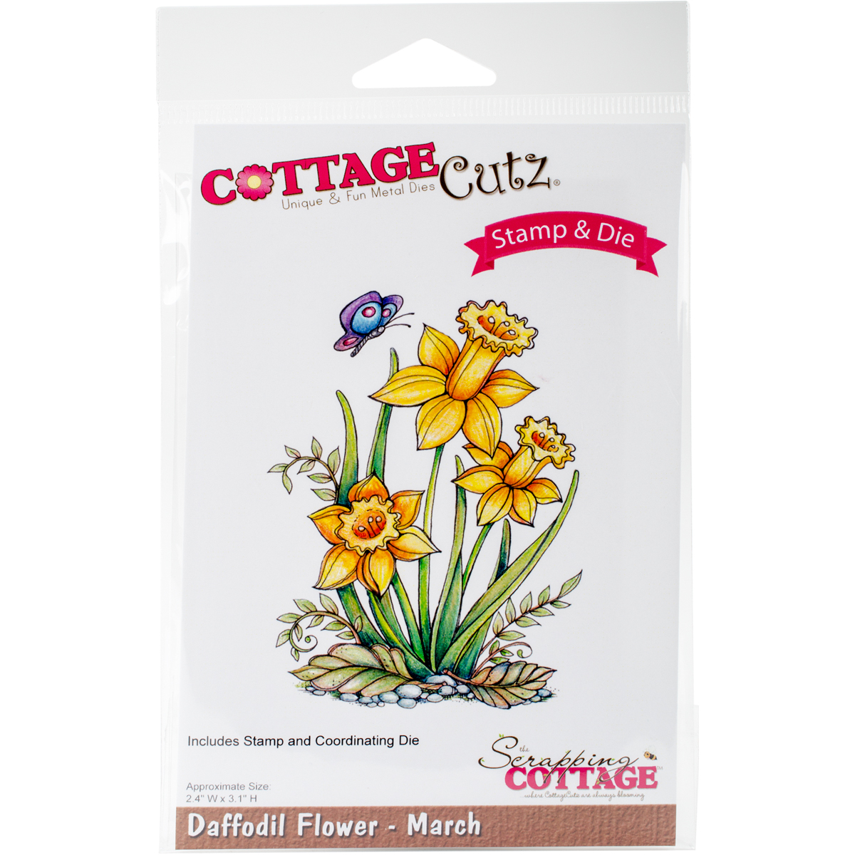 CottageCutz Stamp & Die Set-Daffodil - March