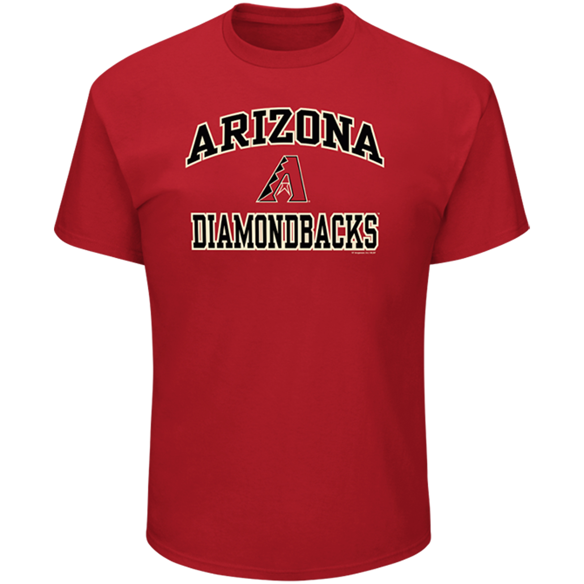 Men's Majestic Red Arizona Diamondbacks High Praise T-Shirt