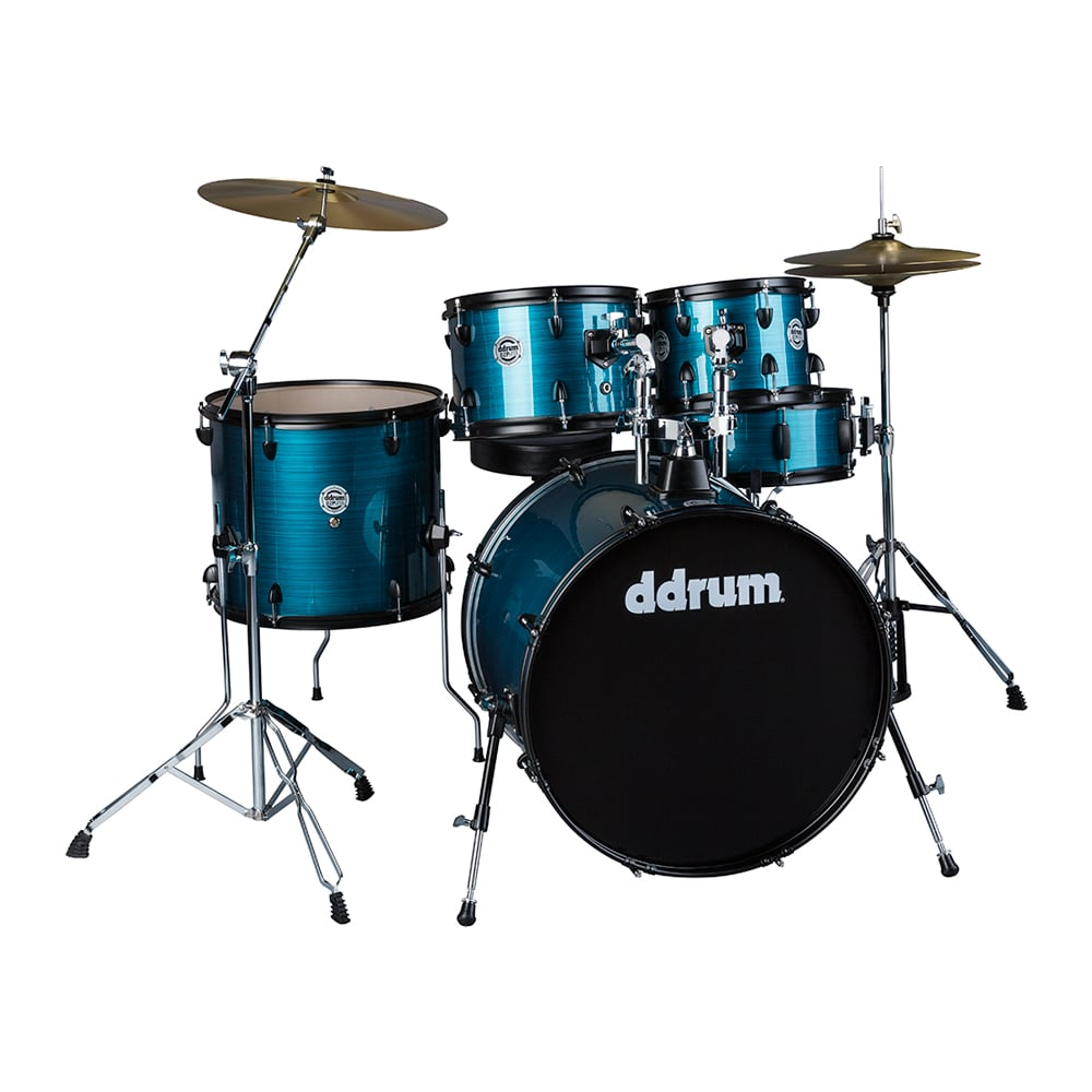 """ddrum D2 Player 22"""" Bass Drum 5-Piece Kit w  Hardware, Cymbals, & Throne Blue... by ddrum"""