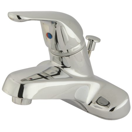 Kingston Brass FB541 4 in Centerset Bathroom Faucet Polished Chrome