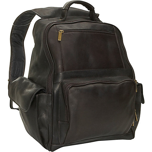 David King Large Front Zip Laptop Backpack