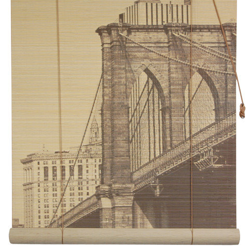 Oriental Furniture Brooklyn Bridge Bamboo Roller Blind