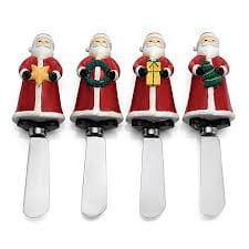 Oneida Jolly Santa Set of 4 Spreaders