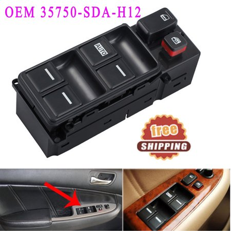- For 2003-2007 Honda Accord Master Power Driver Side Window Switch OEM#35750-SDA-H12