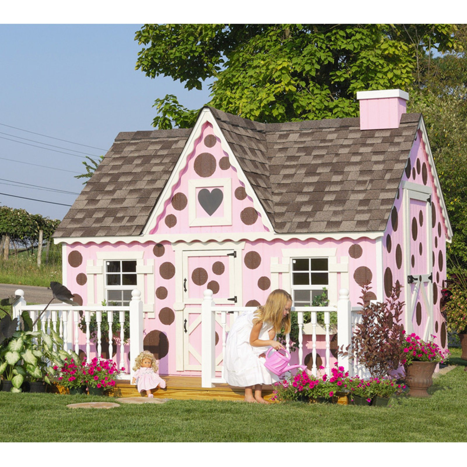 Little Cottage Victorian 8 x 10 ft. Wood Playhouse
