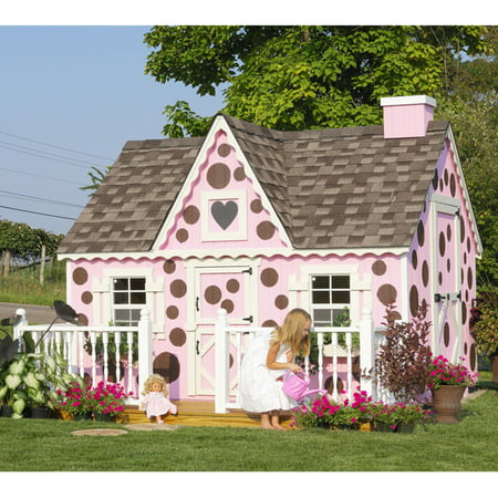 Victorian Cottage Gardens - Little Cottage Victorian 8 x 10 ft. Wood Playhouse