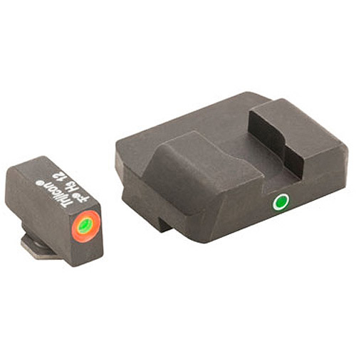 AmeriGlo Pro I-Dot 2 Dot Sights for Glock 17, 19, 22, 23, 24, 26, 27, 33, 34, 35, 37, 38, 39, Green Orange, Front and... by AMERIGLO