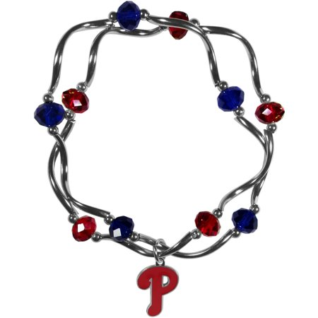 MLB Philadelphia Phillies Stretch Bead Bracelet (Mlb Baseball Bracelet)