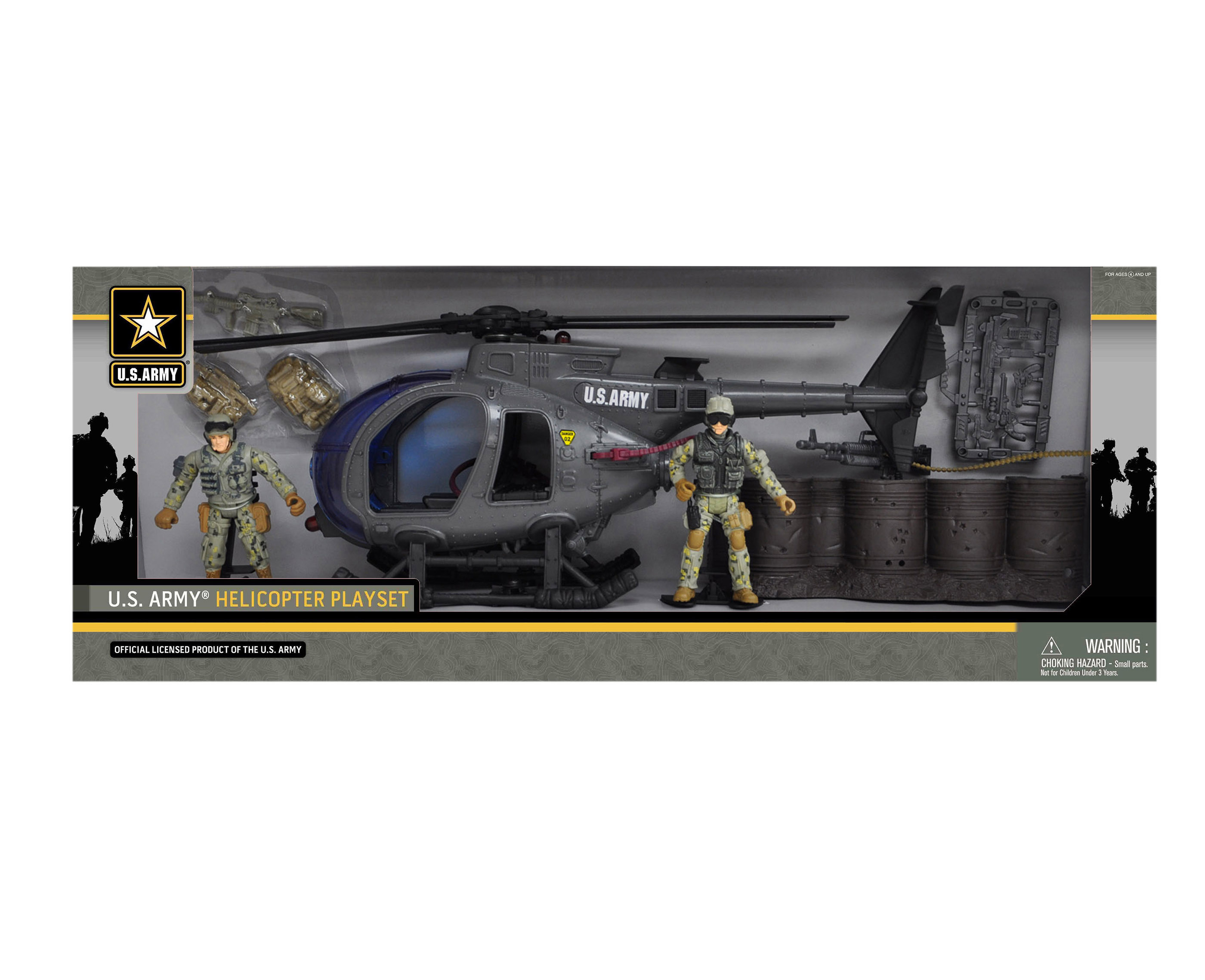 U.S. Army Helicopter Playset w  2 Soldier Figures by Overstock