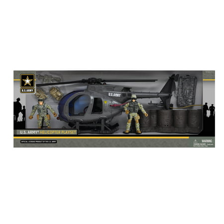 U S  Army Helicopter Playset W  2 Soldier Figures