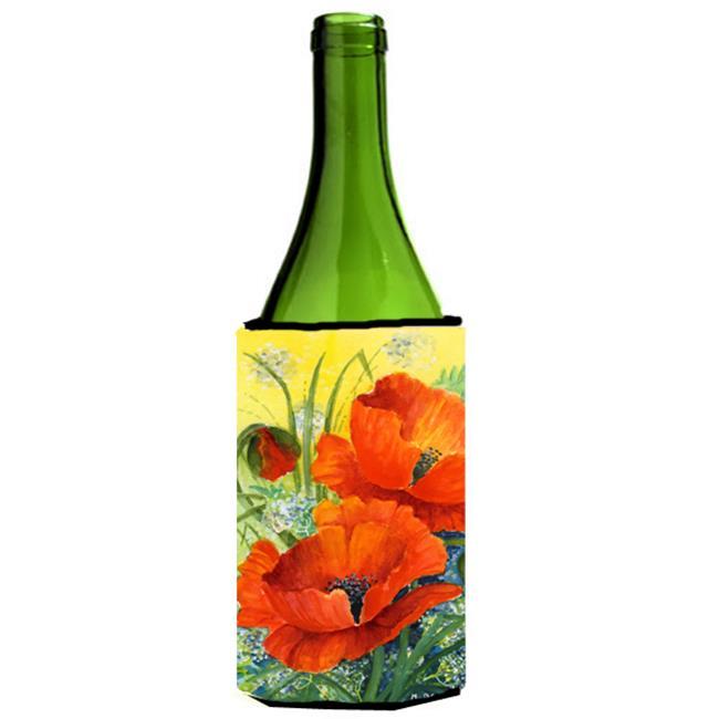 Poppies by Maureen Bonfield Wine Bottle Can cooler Hugger