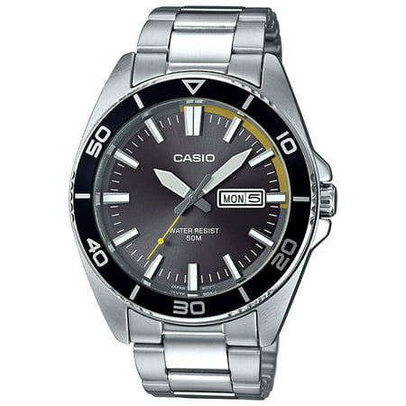 Men's Dive Style Watch, Gray Day-Date Dial - Watch 13 Days Of Halloween Online