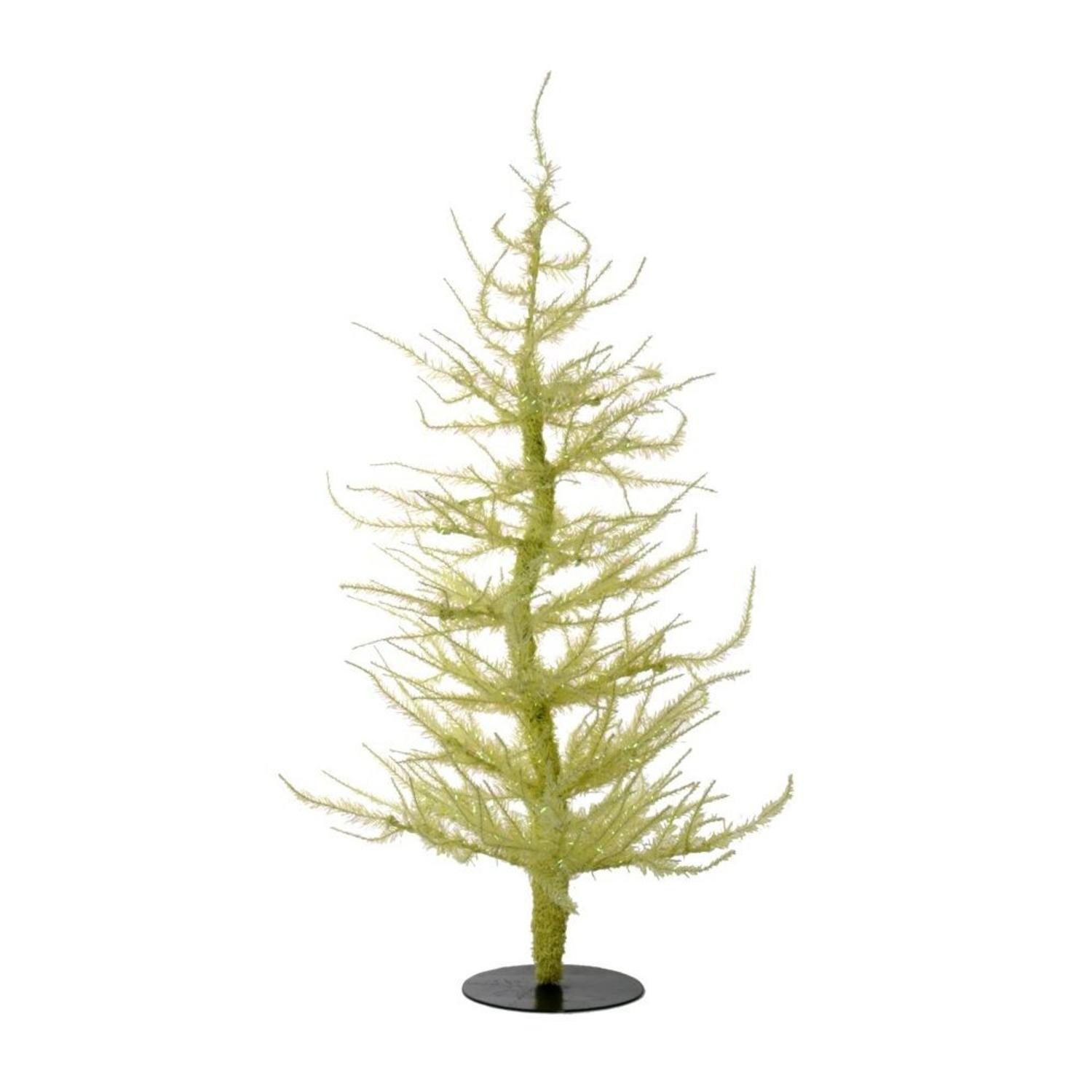 Northlight Whimsical Yellow Laser Artificial Christmas Tree 24