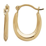Simply Gold Kids' 10KT Yellow Gold Oval Hoop Earrings