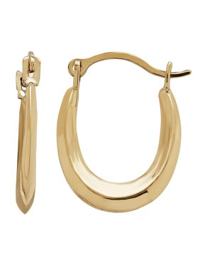 9267a34174 Product Image 10KT Yellow Gold Oval Hoop Earrings. Simply Gold Kids