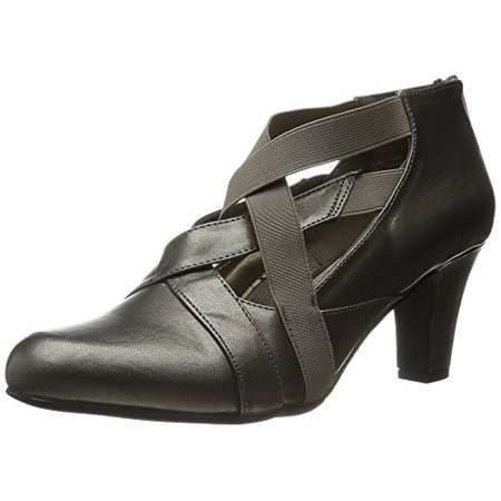 Gore Wrap (Easy Street Women's Devon Boot, Pewter/Pewter Gore, 6 W)