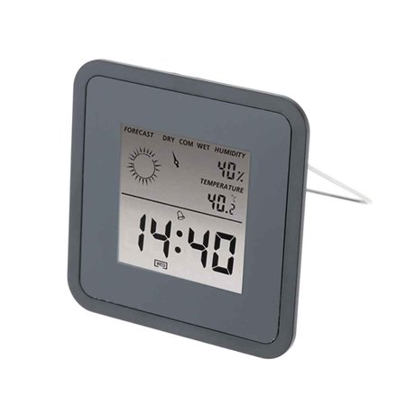 Bonrich Digital Thermometer,Multi-use Weather Station LCD Hygrometer  Forecast Sensor Alarm Clock Temperature 3fa8ad61c0523
