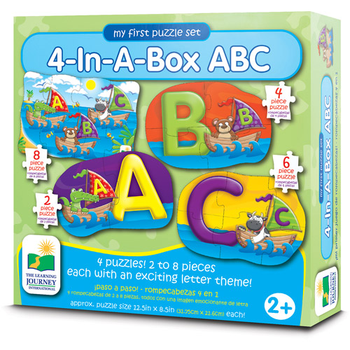 The Learning Journey My First Puzzle Set, 4-in-a-Box, ABC