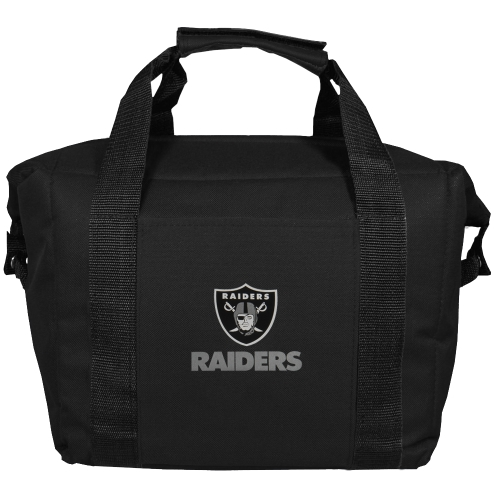 Oakland Raiders Kooler Bag - Black - No Size