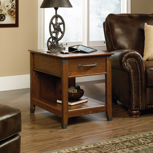Sauder Carson Forge SmartCenter Side Table, Washington Cherry