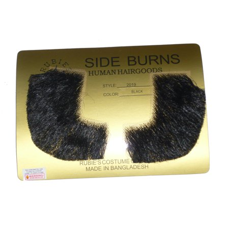 Pork Chop Sideburns Assorted Colors R2019 - Black - Porkchop Sideburns