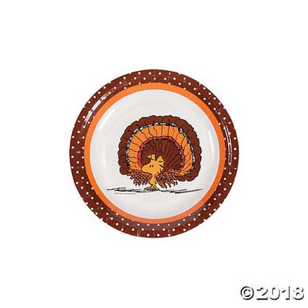 Peanuts? Thanksgiving Paper Dessert Plates - Peanuts Thanksgiving