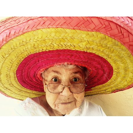 151dc158d LAMINATED POSTER Sombrero Mexico Traditional Hat Old Woman Woman Poster  Print 24 x 36 - Paper