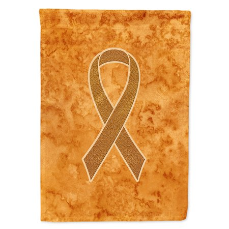 Orange Ribbon for Leukemia Awareness Garden Flag