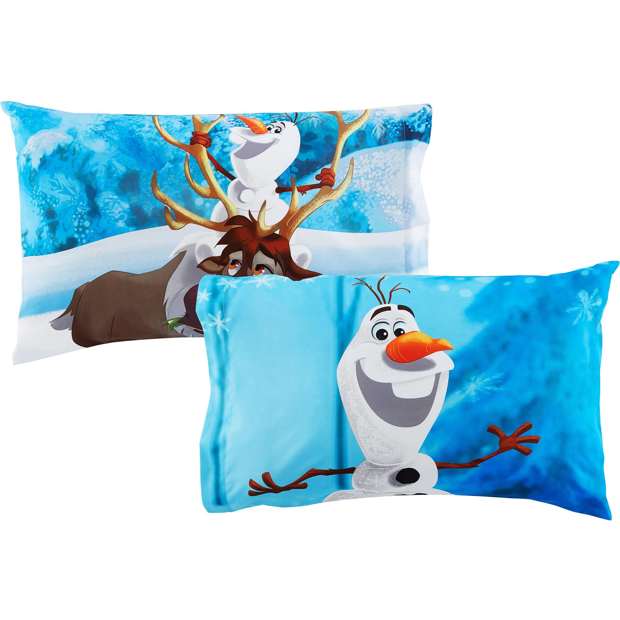 disney olaf 'build a snowman' bedding sheet set - walmart