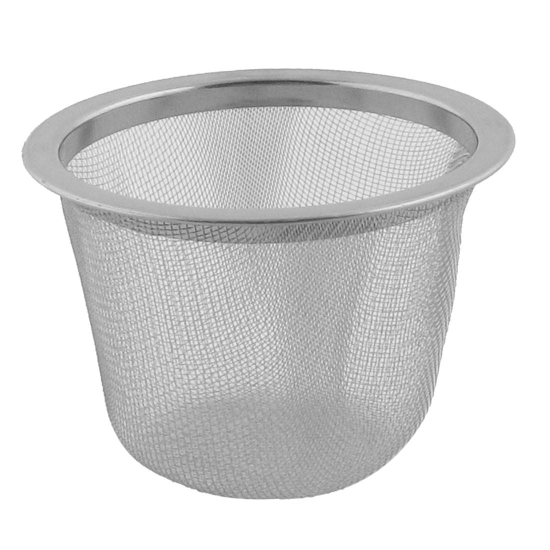 Household Metal Mesh Perforated Funnel Tea Filter Strainer Infuser Silver Tone by
