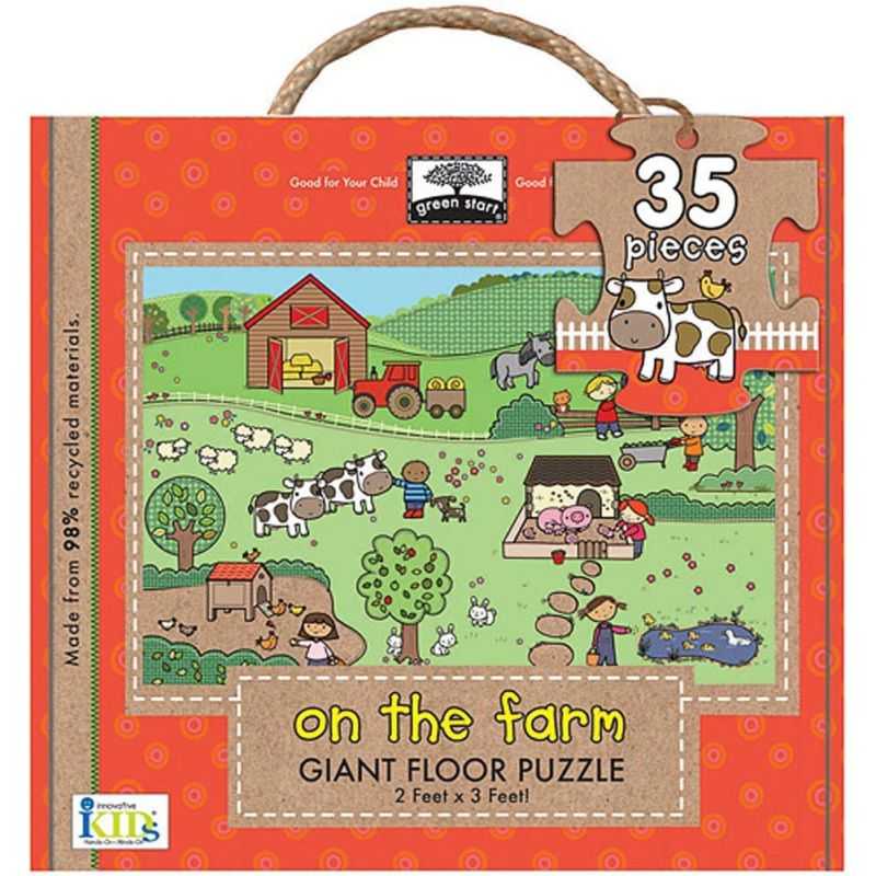 On the Farm 35 Piece Floor Puzzle,  Kids Puzzles by Innovative Kids