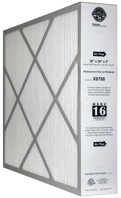 2 PACK 19.88x24.75x4.38 20x25x5 MERV 13 Lennox Replacement Filter